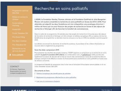 Symposium sur la recherche en soins palliatifs